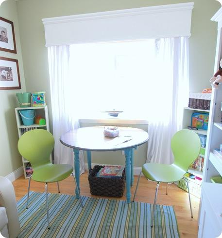playroom chairs rug cornice