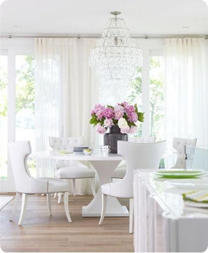 white dining room michael partenio