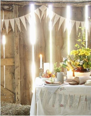 banner and rustic table nonpareil
