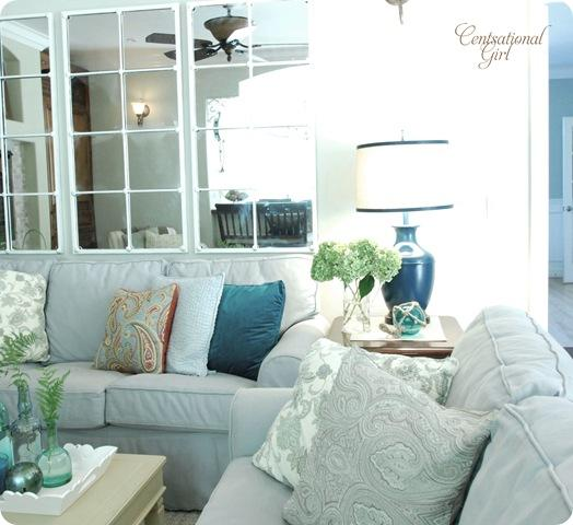 cg family room in blue