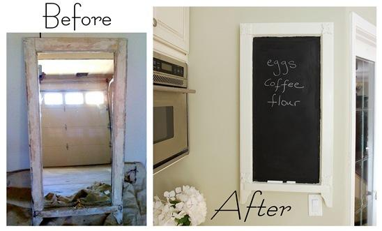 chalkboard before and after