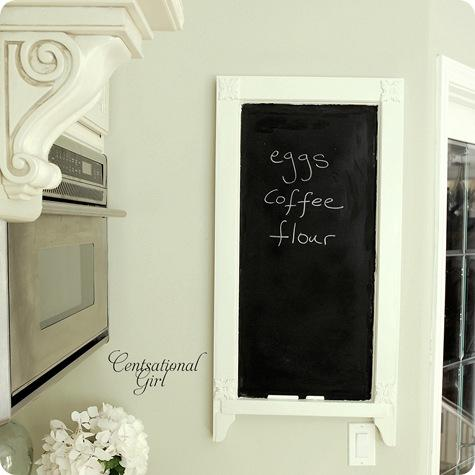 chalkboard on wall