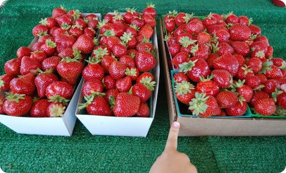 flat of strawberries