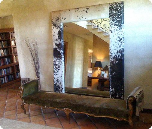 mirror and bench