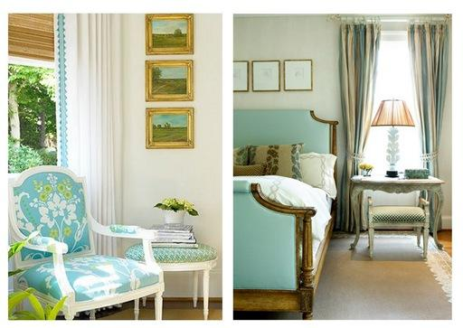 teal blue furnishings