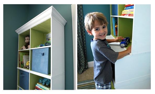 white cabinet little guy