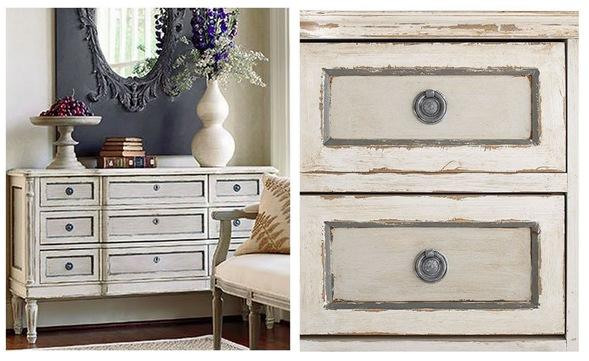wisteria french painted chest