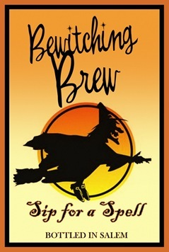bewitching brew beer label