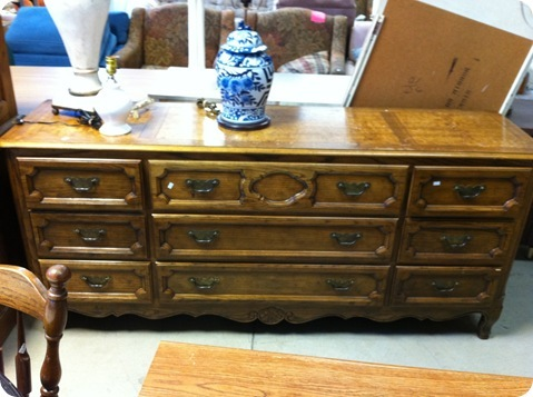 brown walnut dresser
