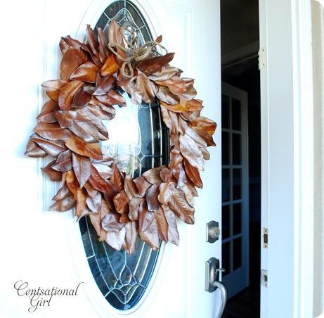 cg front door magnolia wreath