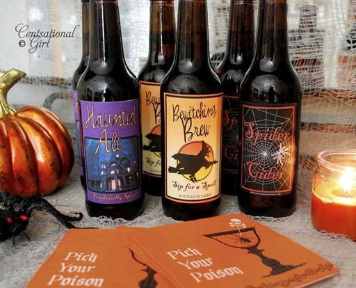 cg halloween beer labels