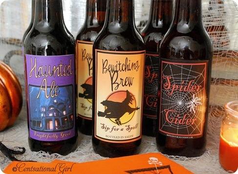 cg halloween beer labels up close