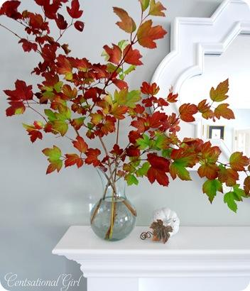 cg viburnum on mantel