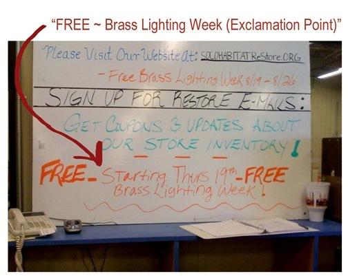 free brass lighting
