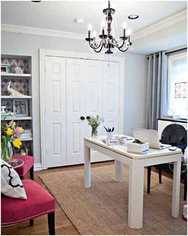 Home Office With Shelving Home Office Pinterest Home Office Offices An
