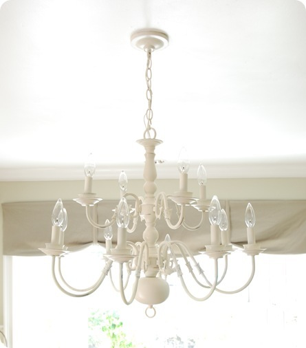 white kitchen chandelier