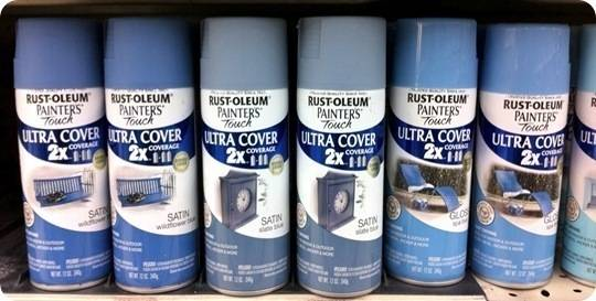 blue rustoleum paints