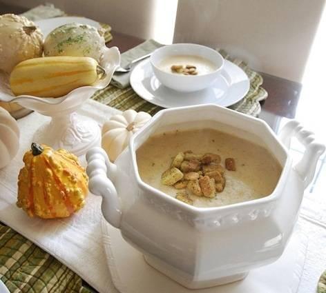 cauliflower soup tureen