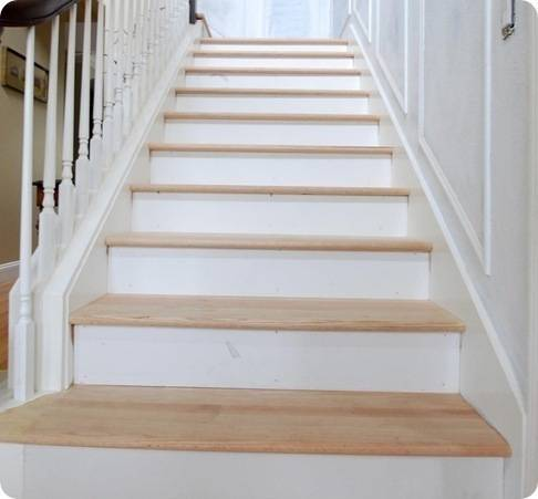 risers and treads on staircase