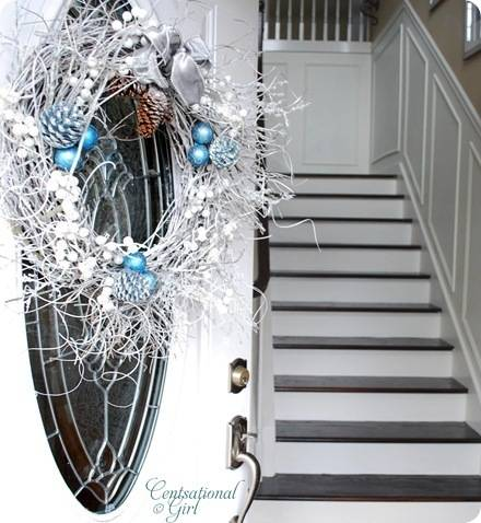 cg front door wreath door open