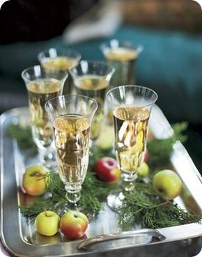country living champagne flutes