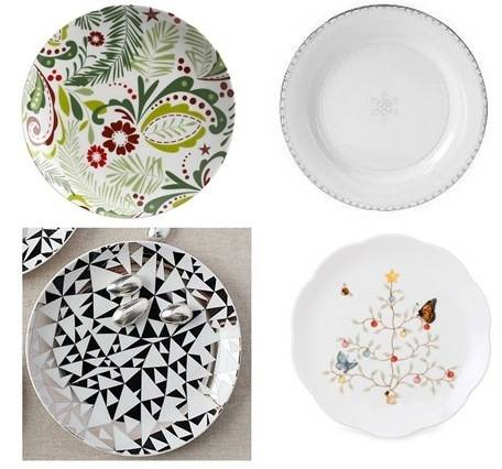 holiday salad plates