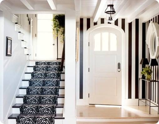 house beautiful striped foyer