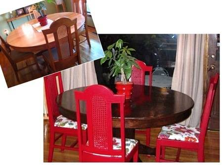 nicole table before after