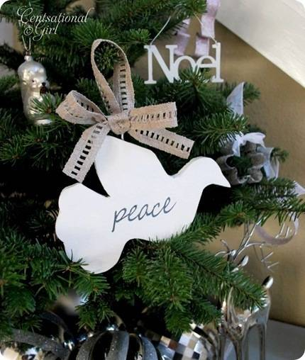 peace dove on tree
