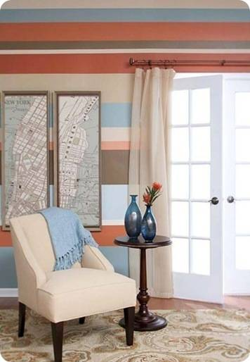 How to paint perfect stripes on walls centsational girl for Painting horizontal stripes on walls tips