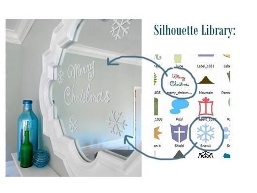silhouette vinyl snowflakes