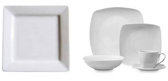 square white plates