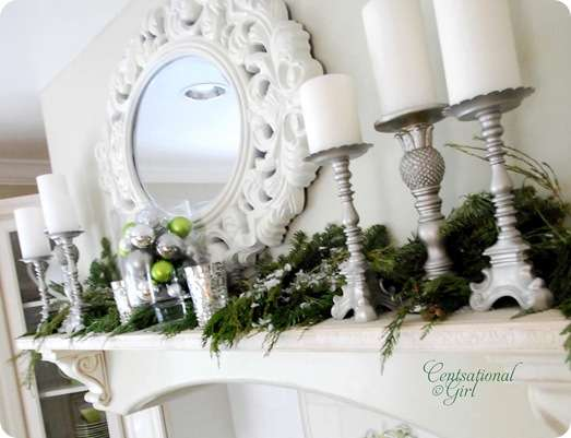 cg kitchen holiday mantel