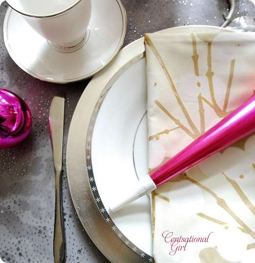 cg new years eve place setting