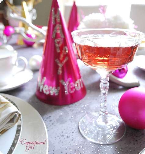 cg pink champagne vintage glass