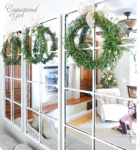 cg rosemary wreaths on mirrors
