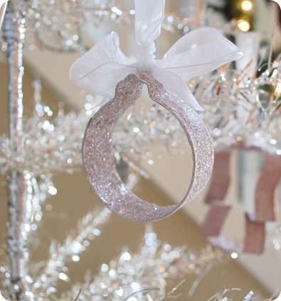 glittered ornament
