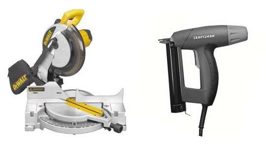 miter saw and brad nailer