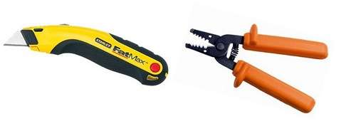 utility knife and wire stripper