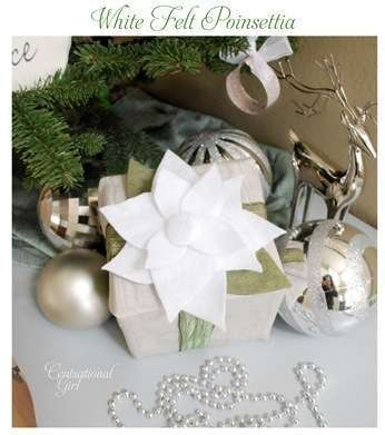 white felt poinsettia