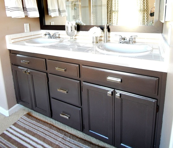 Bathroom q a giveaway centsational girl Paint bathroom cabinets