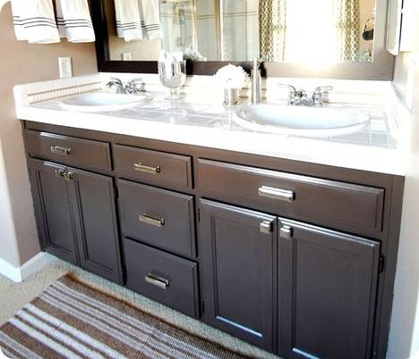 bathroom vanity after