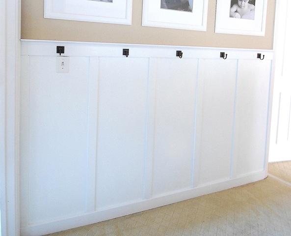 board and batten view basic bathroom strip