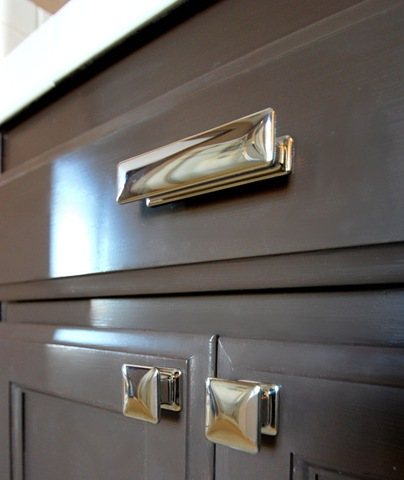 hardware on the doors and drawers atlas alcott square knob and square