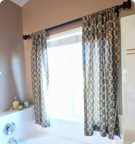 Budget bathroom makeover linky centsational girl for Bathroom window curtains