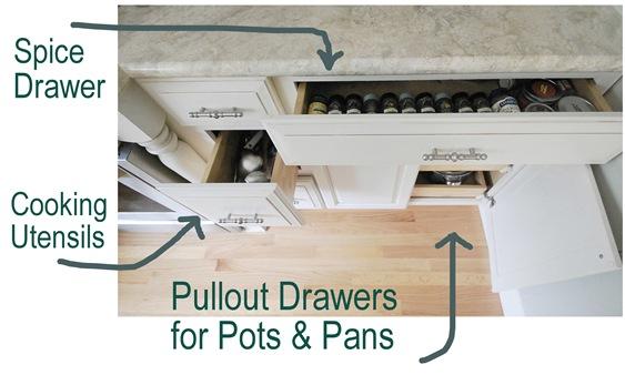 oven cabinet storage