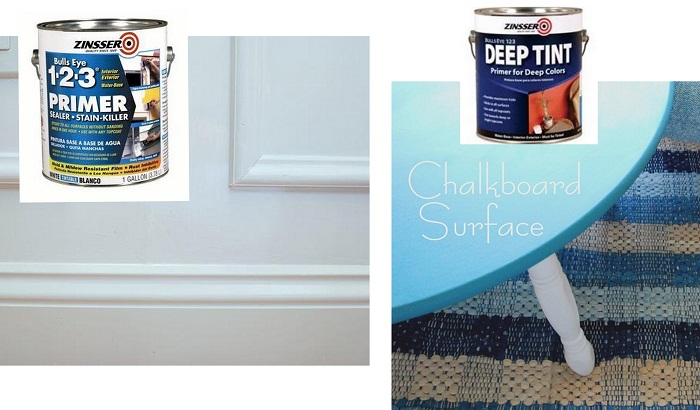 keep two kinds of water based primer around, basic white for wall