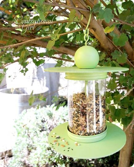 cg recycled bottle birdfeeder