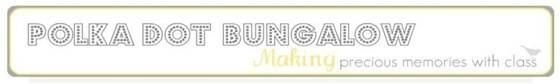 polka dot bungalow banner