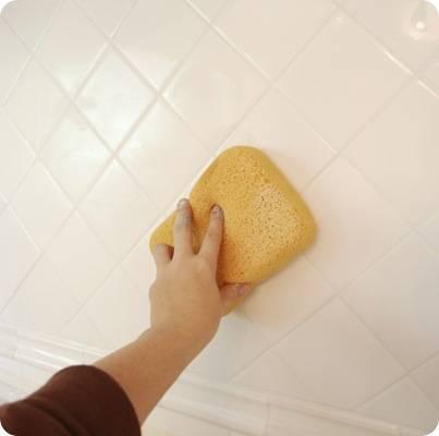sponge off excess